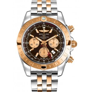 Captain Replica Watch - Breitling Chronomat 44 GMT Two Tone Brown Dial CB042012/Q590