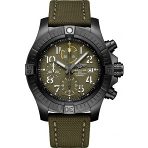 Captain Replica Watch - Breitling Avenger Chronograph Night Mission Black Titanium Green V13317101L1X2