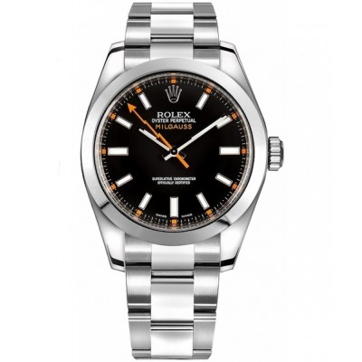 Captain Replica Watch - Replica Rolex Milgauss Steel Black Dial 116400