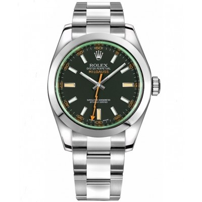 Captain Replica Watch - Replica Rolex Milgauss Black Dial Anniversary Edition 116400GV
