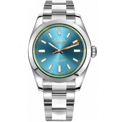 Captain Replica Watch - Replica Rolex Milgauss Blue Dial 116400GV