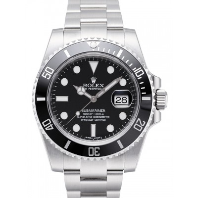Captain Replica Watch - Replica Rolex Submariner Date Steel Black Dial 116610LN