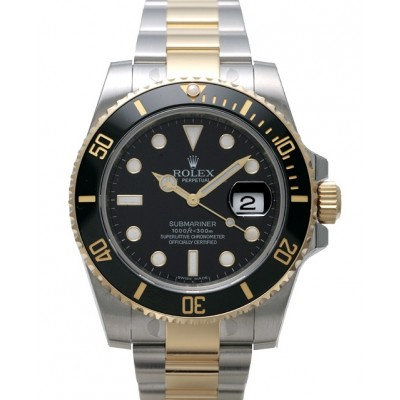 Captain Replica Watch - Replica Rolex Submariner Date Steel Black Dial Two Tone 116613LN