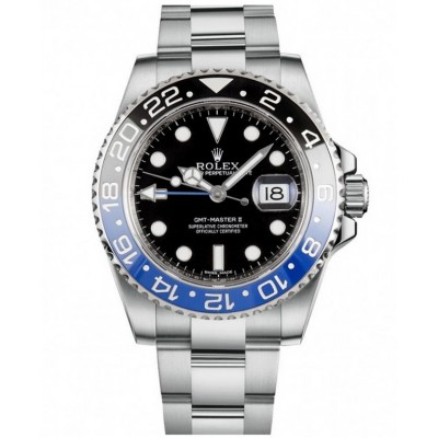 Captain Replica Watch - Replica Rolex GMT-Master II Batman 116710BLNR