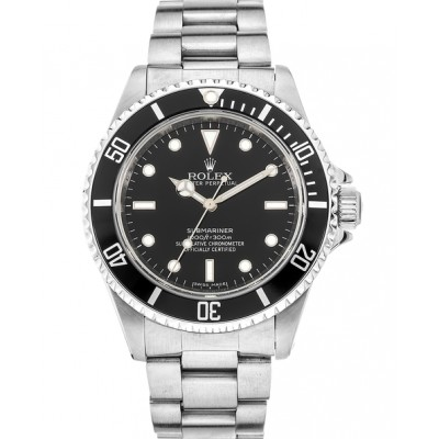 Captain Replica Watch - Replica Rolex Submariner No Date Steel Black Dial 14060M
