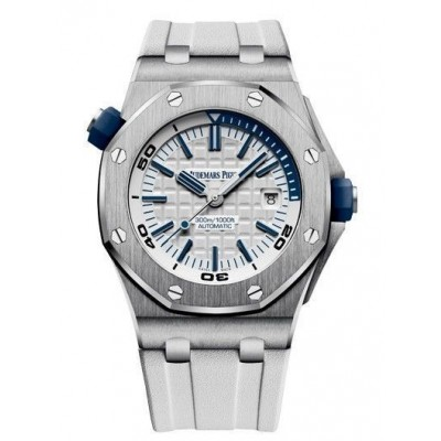 Captain Replica Watch - Audemars Piguet Royal Oak Offshore Diver White Dial 15710ST.OO.A010CA.01
