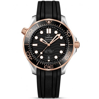Captain Replica Watch - Omega Seamaster Diver 300M Master Co-Axial Two Tone Black 210.22.42.20.01.002