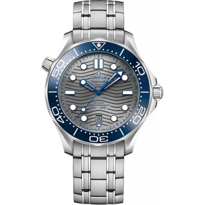 Captain Replica Watch - Omega Seamaster Diver 300M Co-Axial Steel Grey 210.30.42.20.06.001