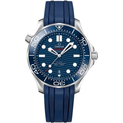 Captain Replica Watch - Omega Seamaster Diver 300m Co-Axial Master Chronometer Blue 210.32.42.20.03.001