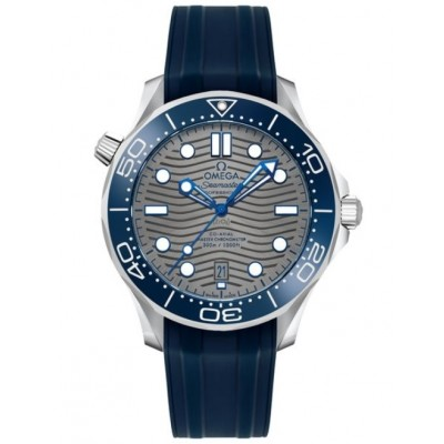 Captain Replica Watch - Omega Seamaster Diver 300M Co-Axial Steel Grey 210.32.42.20.06.001