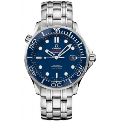 Captain Replica Watch - Omega Seamaster Diver 300M Co-Axial Steel Blue 212.30.41.20.03.001