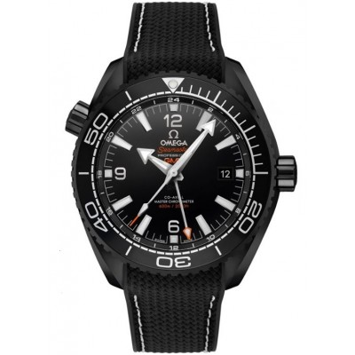 Replica Omega Seamaster Planet Ocean GMT Deep Black 45.5mm 215.92.46.22.01.001