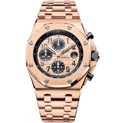 Captain Replica Watch - Audemars Piguet Royal Oak Offshore Rose Gold Chronograph 26470OR.OO.1000OR.01