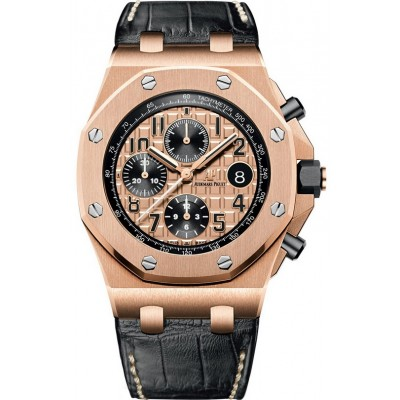 Captain Replica Watch - Audemars Piguet Royal Oak Offshore Chronograph Rose Gold 26470OR.OO.A002CR.01