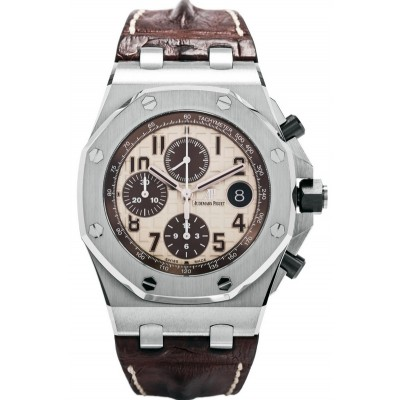 Captain Replica Watch - Audemars Piguet Royal Oak Offshore Chronograph Ivory 26470ST.OO.A801CR.01