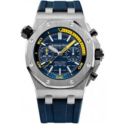 Captain Replica Watch - Audemars Piguet Royal Oak Offshore Diver Blue Mega-Tapisserie Dial 26703ST.OO.A027CA.01