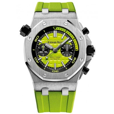 Captain Replica Watch - Audemars Piguet Royal Oak Offshore Diver Chrono Green 26703ST.OO.A038CA.01