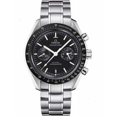 Captain Replica Watch - Omega Speedmaster Moonwatch Black Dial Steel Co-Axial Chronograph 311.30.44.51.01.002