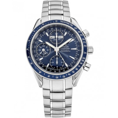 Captain Replica Watch - Omega Speedmaster Day-Date Steel Blue Dial Chronograph 3222.80.00