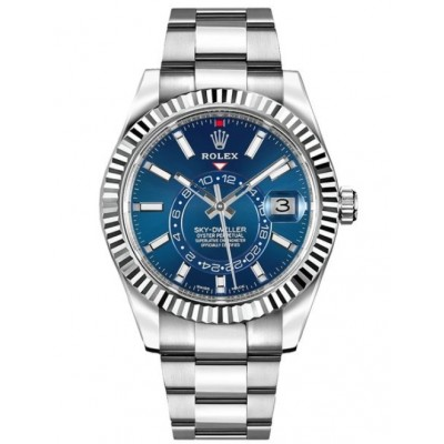 Captain Replica Watch - Replica Rolex Sky-Dweller Blue Dial 42mm 326934