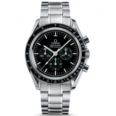 Captain Replica Watch - Omega Speedmaster Professional Moonwatch Steel Black Dial 3573.50.00