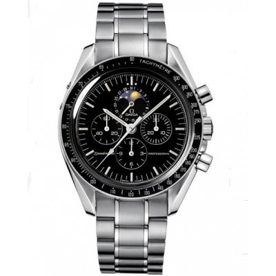 Captain Replica Watch - Omega Speedmaster Professional Moon Phase Stainless Steel Moonwatch 3576.50.00