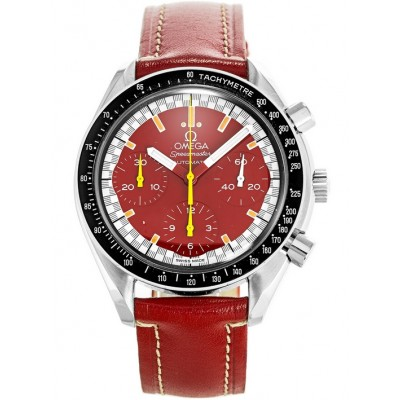 Captain Replica Watch - Omega Speedmaster Reduced Red Schumacher Chronograph 3810.61.41