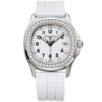 Captain Replica Watch - Patek Philippe Aquanaut Steel Diamonds Ladies 5067A-024