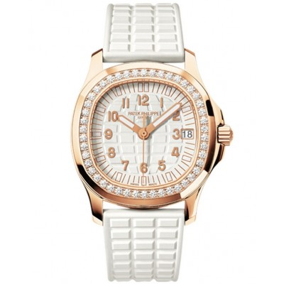Captain Replica Watch - Patek Philippe Aquanaut Rose Gold Diamonds Ladies 5068R-010