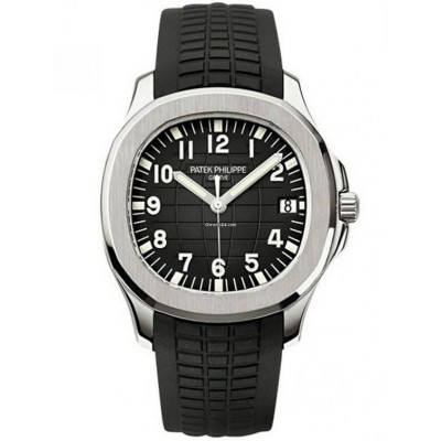 Captain Replica Watch - Patek Philippe Aquanaut Steel Black Arabic Dial 5167A-001