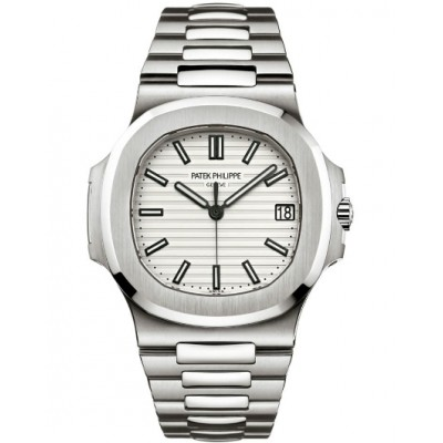 Captain Replica Watch - Patek Philippe Nautilus Stainless Steel Silver White Dial 5711/1A-011