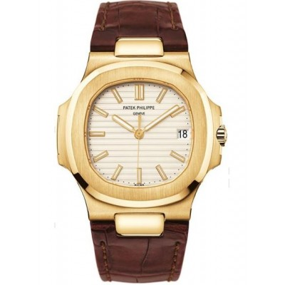 Captain Replica Watch - Patek Philippe Nautilus Yellow Gold Gray Dial 5711J