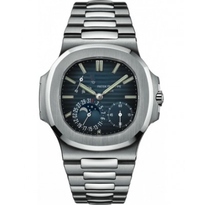 Captain Replica Watch - Patek Philippe Nautilus Steel 40mm Blue Dial 5712/1A-001