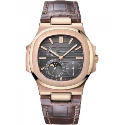 Captain Replica Watch - Patek Philippe Nautilus Rose Gold Brwon Dial 5712R-001