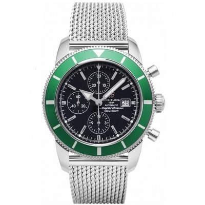 Captain Replica Watch - Breitling Superocean Heritage Chronograph 46 Black and Green A13320Q4/B908