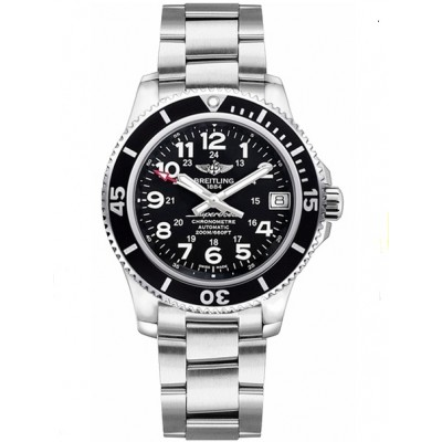 Captain Replica Watch - Breitling Superocean II 36 Steel Black Dial A17312C9/BD91-179A