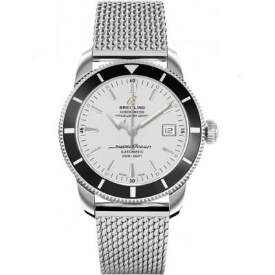 Captain Replica Watch - Breitling Superocean Heritage 42 Steel Silver and Black A1732124/G717