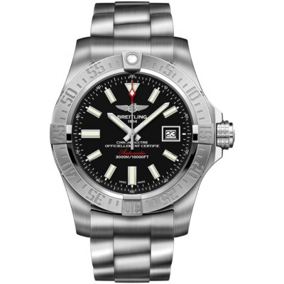 Captain Replica Watch - Breitling Avenger II Seawolf Steel Black Dial A1733110/BC30/169A
