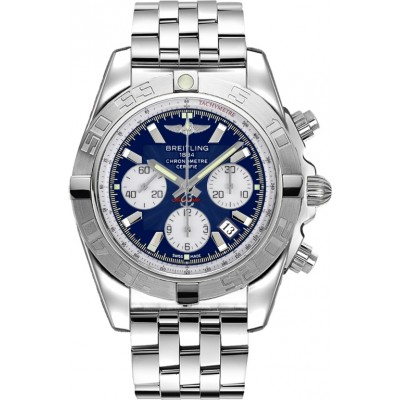 Captain Replica Watch - Breitling Chronomat 44 Steel Blue Dial AB011011/C788/375A
