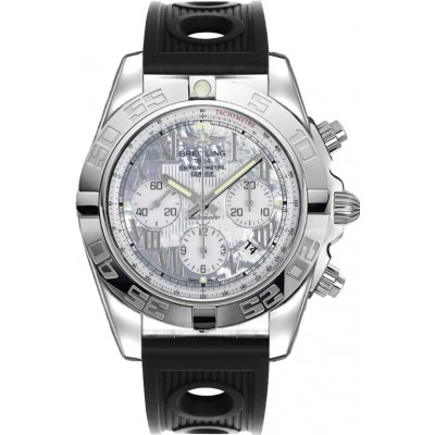 Captain Replica Watch - Breitling Chronomat 44 Mother of Pearl White Dial AB011012/A691/200S