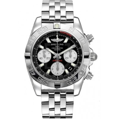 Captain Replica Watch - Breitling Chronomat 41 Steel Black Dial AB014012/BA52/378A
