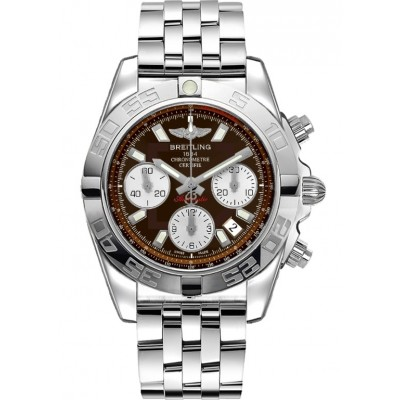 Captain Replica Watch - Breitling Chronomat 41 Steel Brown Dial AB014012/Q583/378A