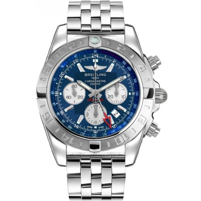 Captain Replica Watch - Breitling Chronomat 44 GMT Blue Dial Silver Subdials AB042011/C851/375A