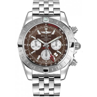Captain Replica Watch - Breitling Chronomat 44 GMT Steel Brown Dial AB042011/Q589/375A