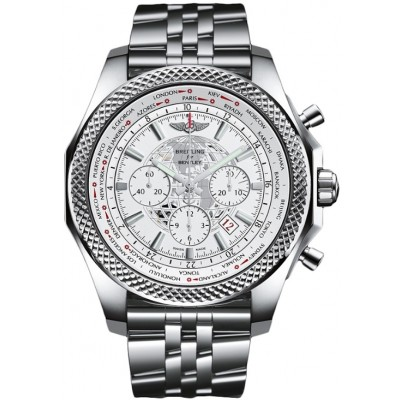 Captain Replica Watch - Breitling Bentley B05 Unitime Steel White Dial AB0521U0/A755/990A