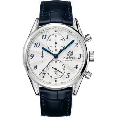 Captain Replica Watch - TAG Heuer Carrera Heritage Calibre 16 Chronograph Silver Dial with Blue CAS2111.FC6292