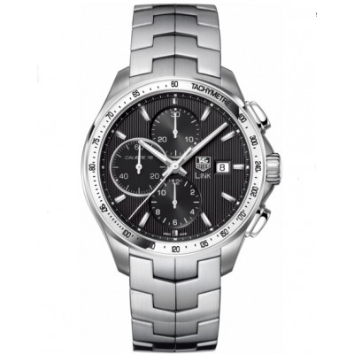 Captain Replica Watch - TAG Heuer Link Calibre 16 Chronograph Tachymeter Black Dial CAT2010.BA0952