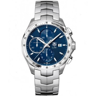 Captain Replica Watch - TAG Heuer Link Leonard DiCaprio Chronograph Blue Dial CAT2015.BA0952