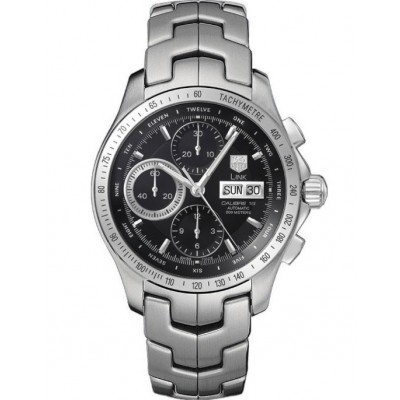 Captain Replica Watch - TAG Heuer Link Chronograph Day Date Black Dial CJF211A.BA0594