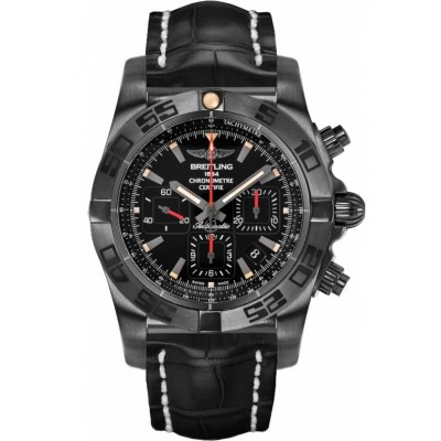 Captain Replica Watch - Breitling Chronomat 44 Blacksteel Black Dial MB0111C3/BE35/744P